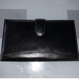 Jeun Bang Black Wallet Strap Patent Leather NWOT
